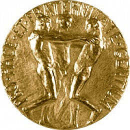 Reverse face of the Nobel Peace Prize Medal.  Courtesy Nobel Foundation.