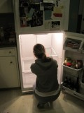 CLEANING THE FRIDGE ON THE REFRIGERATOR DAY