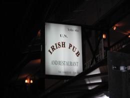 U.N Irish Pub Sign