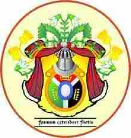 Colorful coat-of-arms of a naturalist