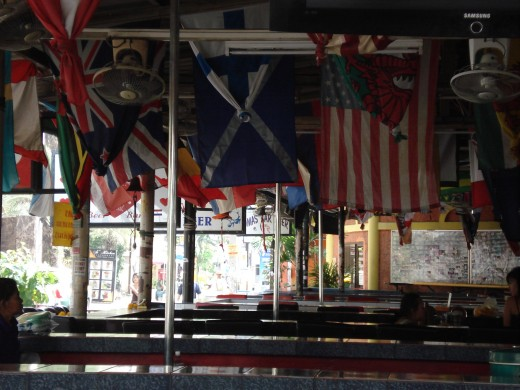 Flags Ber Bar during the day
