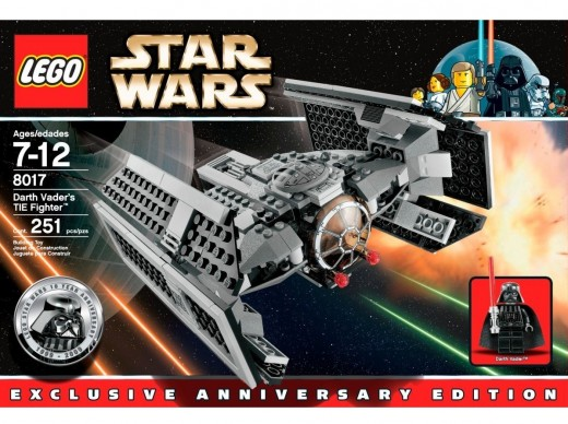 LEGO Star Wars 8017 Darth Vader's TIE Fighter: Box closeup