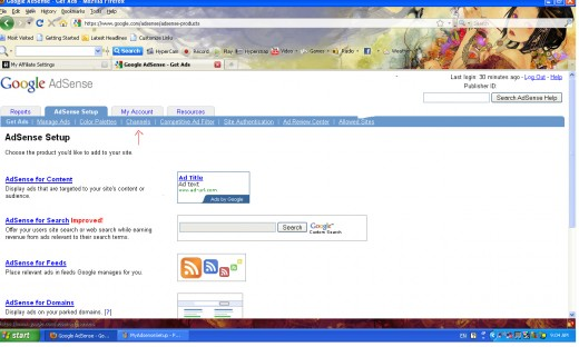 """Select """"Channels"""", once you are in Adsense Setup"""