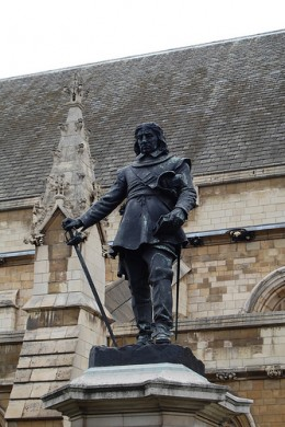 """Oliver Cromwell outside parliament in London. """"An Abomination standing in the Holy Place"""". Why dont they erect a statue of Pol Pot to stand beside him?"""
