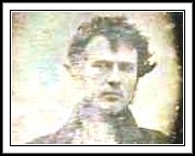 "Robert Cornelius self-portrait, Oct. or Nov. 1839.  On the back are the words The first light picture ever taken."" This is the first known photographic image of a human ever made."