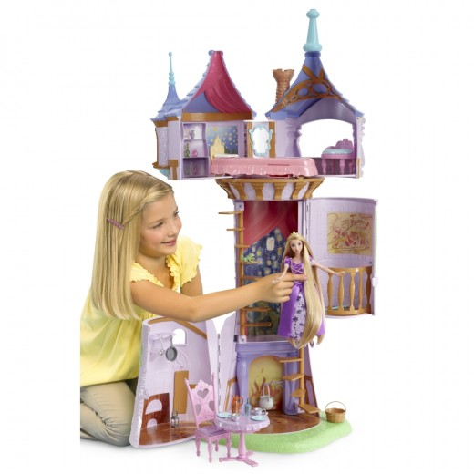 Little Girls Tangled Play Tower for Rapunzel
