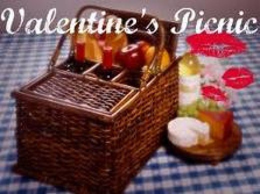 Valentines Gifts for Him - The Perfect Picnic for 2 Basket