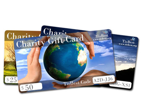 Charity gift cards from thedailygreen.com