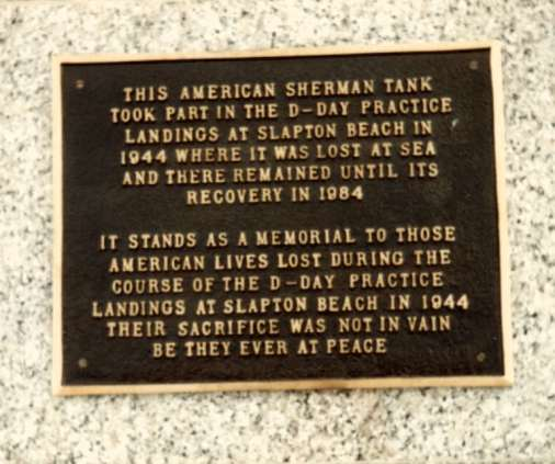 Memorial plaque to the fallen soldiers.