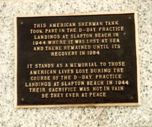 Memorial plaque to the fallen soldiers.