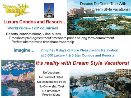 Dream vacations worldwide !