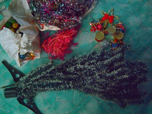 My old Christmas decorations (photo by Ireno Alcala)