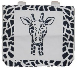 Handmade Cotton bag Made from the finest organic Tanzanian cotton.  Hand decorated with the giraffe face