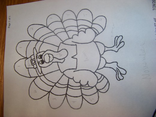 Turkey coloring page.