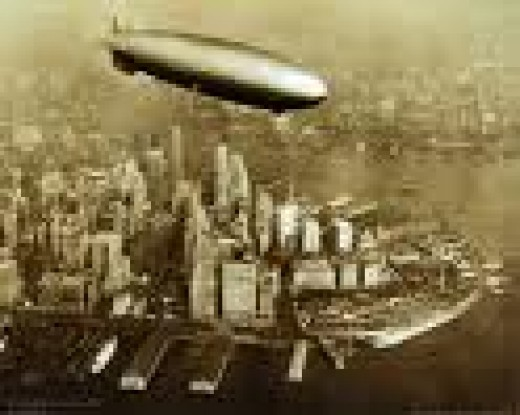 New Yorkers would have seen a few airships in those days.