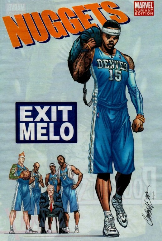 I still don't see why the Nuggets organization hasn't allowed Carmello Anthony leave yet.  Clearly he hates being there.