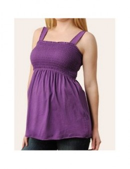 Motherhood Maternity: Sleeveless Square Neck Smocked Maternity T Shirt