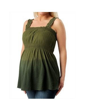 Motherhood Maternity: Sleeveless Smocked Maternity T Shirt