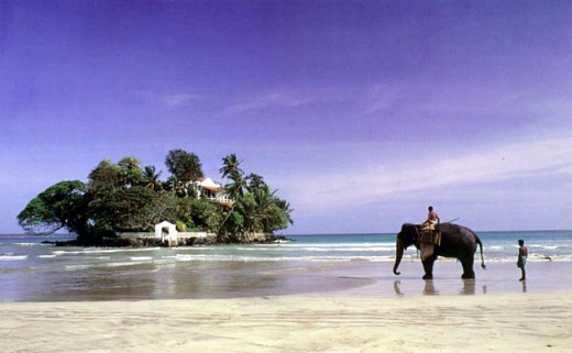 Taprobane Island, off Weligame Beach, South-western Coast, Sri Lanka