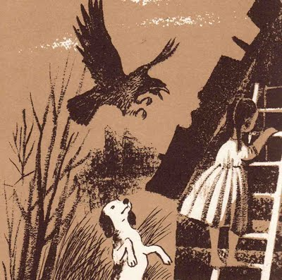 "This is one of the magically evocative illustrations in my copy of "" The Secret River"". (I imported this image from B. Streetman's blog on vintage books.)"