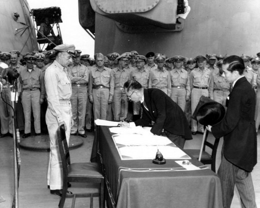 Japanese surrender to the United States, 1945