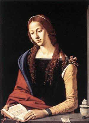 'St Mary Magdalene'  by  Piero di Cosimo (1462-1521)