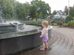 Granite Fountain and walkway St. Cloud MN
