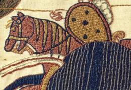 Bayeux tapestry stitch detail