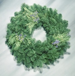 Mixed Evergreen Wreath from pacificcoastevergreensDOtcom