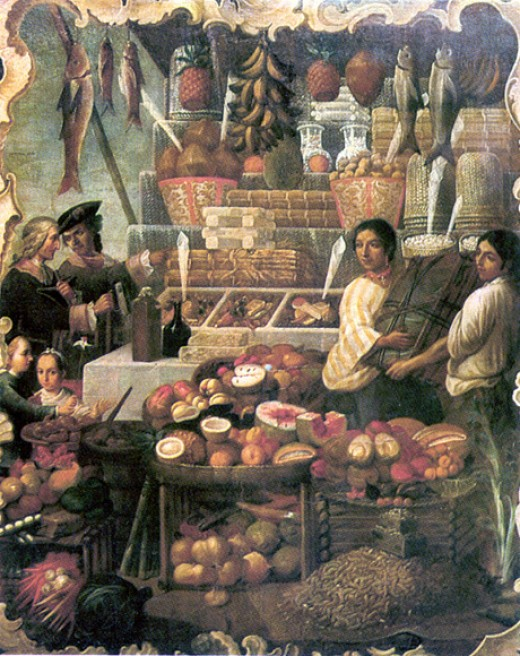 MARKET IN COLONIAL MEXICO