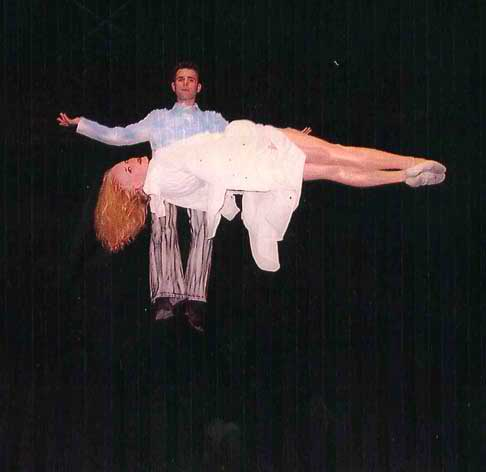 Floating or levitating woman c/o William Kennedy