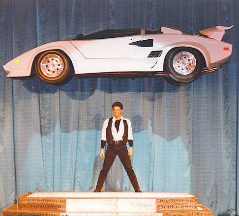 Floating Lamborghini car c/o William Kennedy