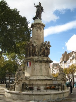 French War Monument in Verdun Square, Marseilles, France