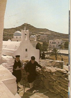 Old men wit tradional Cycladic costume.