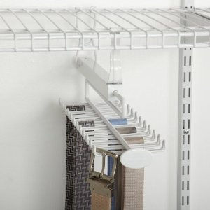 ClosetMaid 8060 Sliding Tie And Belt Rack For Wire Shelving