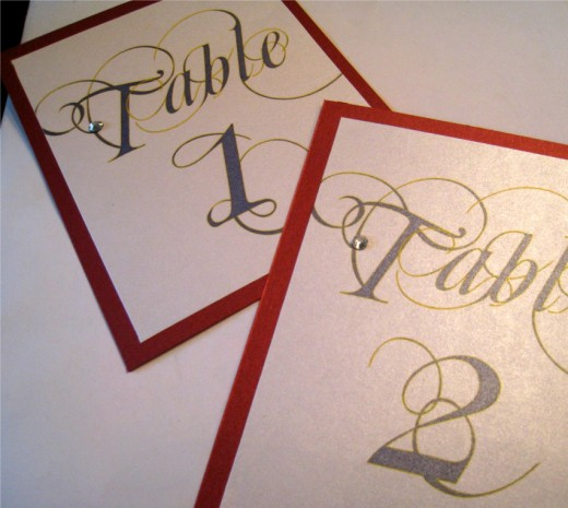 Red Navy Blue Yellow Marine Table Number Cards Contact Megan