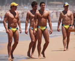 Sports Fans, Gymnasts and Large Guys in Speedos