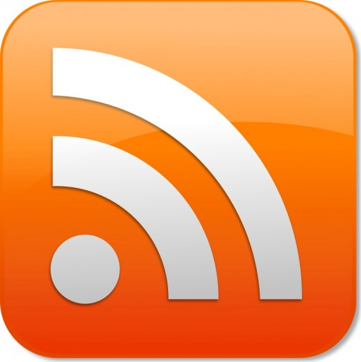 This is the RSS icon - whenever you see it, you know that an RSS Feed is available for that web site...