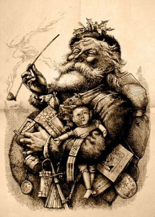 Merry Old Santa Claus by Thomas Nast, January 1, 1881