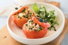 Stuffed Tomatoes with rice and fresh herbs