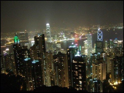 The night view from the Peak, Hong Kong