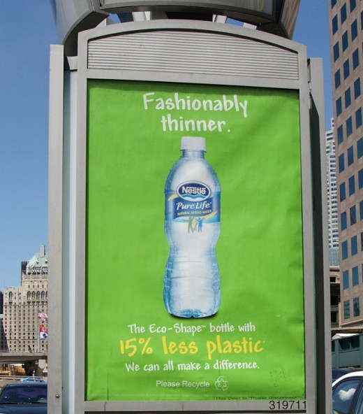 Advertisement for Bottled Water - Fashionably Thinner