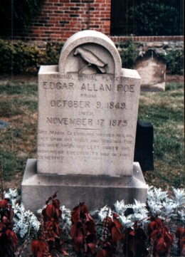Poe's first grave, where his body was laid after he died.