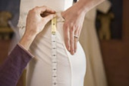 Always consult the manufacturer's size chart before selecting the size of your wedding gown and/or bridesmaids' dresses.