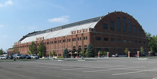 The Hinkle Fieldhouse at Butler University