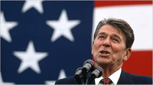 "Ronald Reagan--""The government is the enemy."""