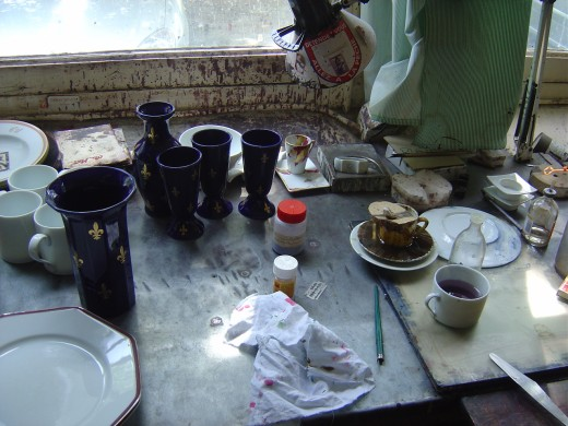 Hand Painting Limoges Porcelain, Saint Mathieu, S W France