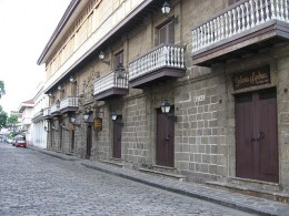 Old Houses On A Cobble Stoned Street