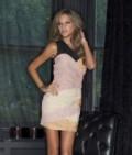 Lipsy Mesh Shoulder Ruched Dress