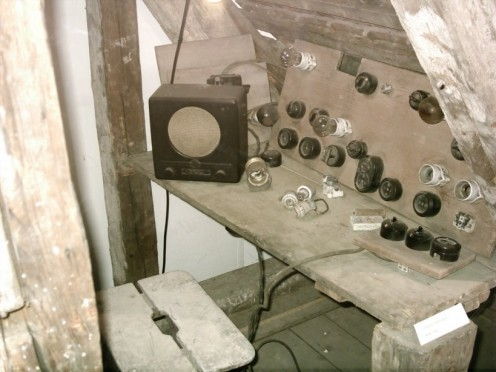 The smuggled radio in the Colditz attic.